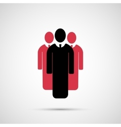 People design 3 man icon vector