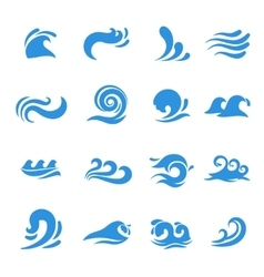 Wave icons vector