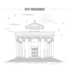 City buildings graphic template italian basilica vector