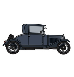 Vintage dark coupe vector