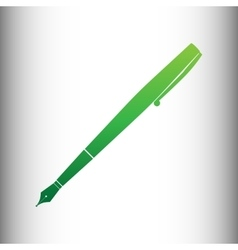 Pen sign green gradient icon vector