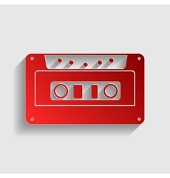 Cassette icon audio tape sign vector