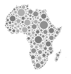 Africa map mosaic of grey dots vector