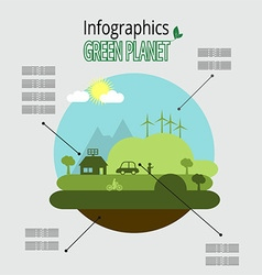 a green planet vector image