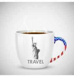 American Coffee CUp vector image vector image
