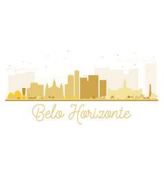 Belo horizonte city skyline golden silhouette vector