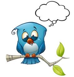 Blue bird emotional vector
