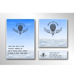 Brochures on the theme of air travel vector