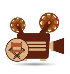 camera movie vintage chair icon design vector image