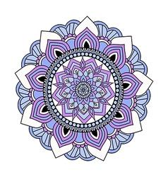Colorful hand drawn doodle mandala vector
