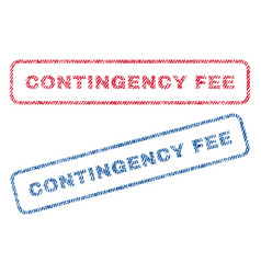 Contingency fee textile stamps vector