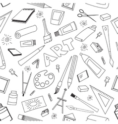 Doodle pattern of art vector image vector image