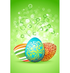 Easter Background with Decorated Eggs vector image vector image