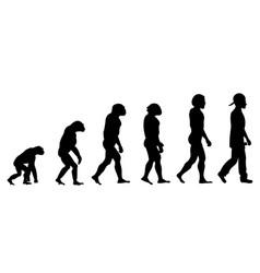 evolution rapper silhouette on white background vector image vector image