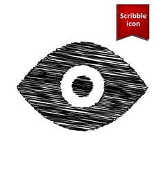 Eye icon scribble icon for you design vector