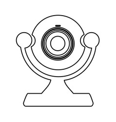 Figure digital computer camera icon vector
