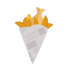 Fried potatoes vector image