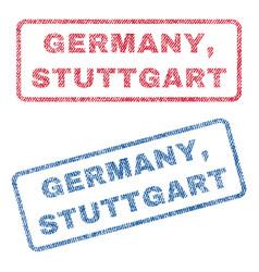 Germany stuttgart textile stamps vector
