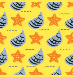 hand drawn - seamless pattern vector image