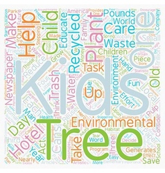 Kids and trees grow with the environmental three r vector