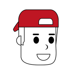 Man with hat design vector