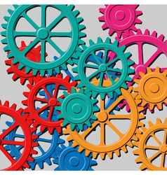 mechanical background vector image