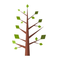 New tree flat sign vector image