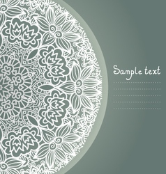 ornamental background vector image vector image