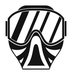 Paintball mask icon simple style vector image vector image