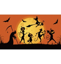 Party monsters for Halloween vector image