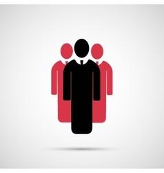 People design 3 man icon vector image vector image