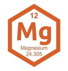 Periodic table magnesium vector image vector image