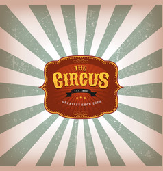 Retro circus background with texture vector