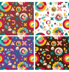 Set of geometric patterns ans backgrounds vector image vector image