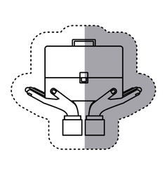 Sticker contour of travel suitcase vector