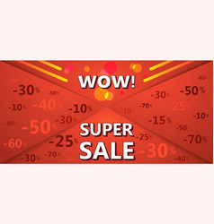super sale banner of red color vector image