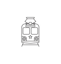 Tram icon public transport symbol graphics vector