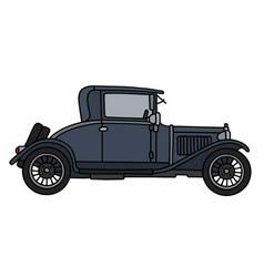 Vintage dark coupe vector