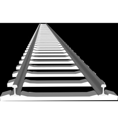 White sleepers and rails vector image vector image