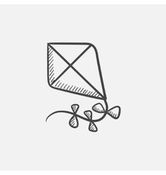 Kite sketch icon vector
