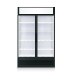 Realistic freezer template vector