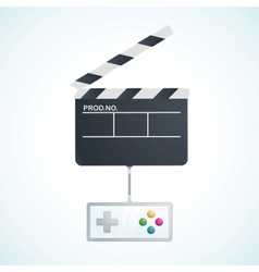 Play in movie vector