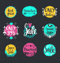 Handwritten calligraphy sale set special vector
