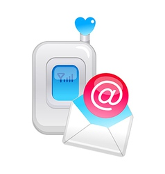 Icon mobile phone and email vector