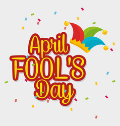 April fools day celebration card vector