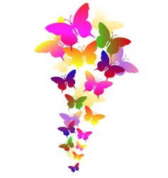 Abstract background with butterflies vector