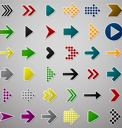 Color arrow icons vector
