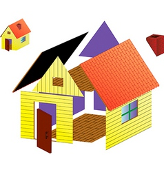 Image of rural house vector