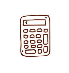 Hand drawn calculator vector
