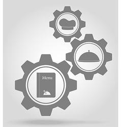 gear mechanism concept 20a vector image
